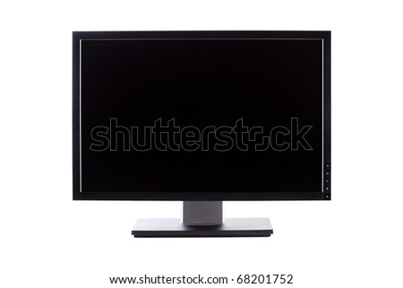 professional IPS panel wide LCD monitor, isolated on white - stock photo