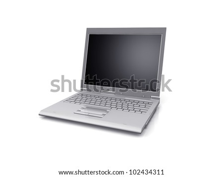 professional Laptop isolated on white background - stock photo