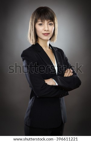 professional looking business woman - stock photo