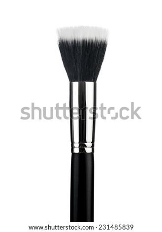 Professional make-up brush cosmetic isolated on white background - stock photo