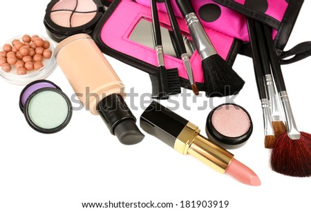 Professional make-up tools close up - stock photo