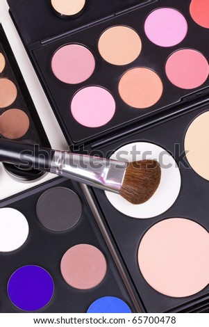 Professional make-up tools, closed-up