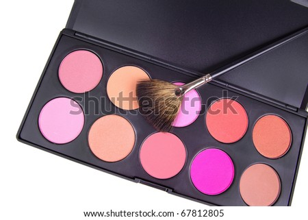 Professional make-up tools,  closeup