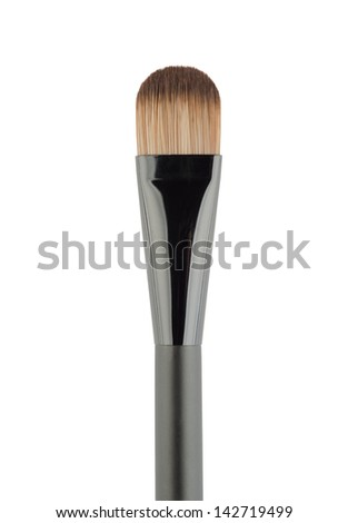 Professional Makeup Brush Isolated over white background - stock photo