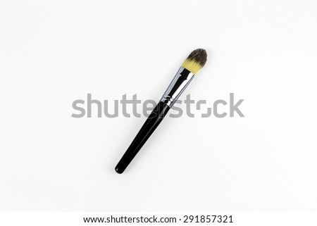 Professional makeup brush  on a white background - stock photo