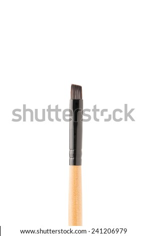 Professional makeup brush on white background - stock photo