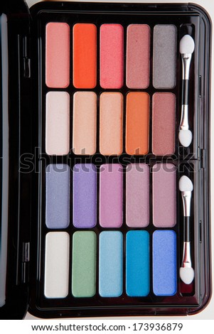 Professional makeup colorful palette - stock photo