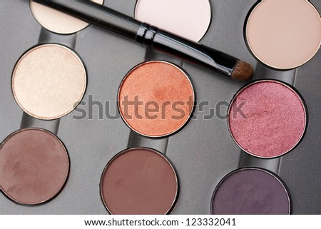 professional makeup eyeshadow palette - stock photo