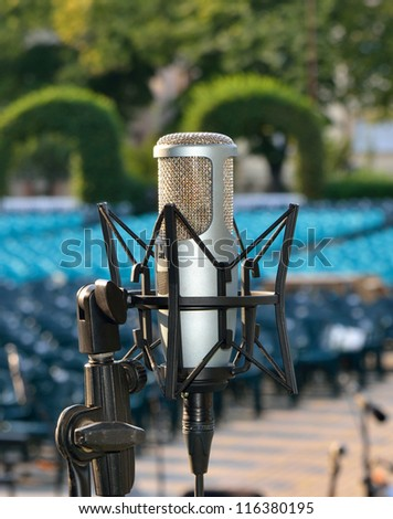 Professional microphone - stock photo