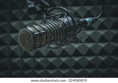 professional microphone in the studio