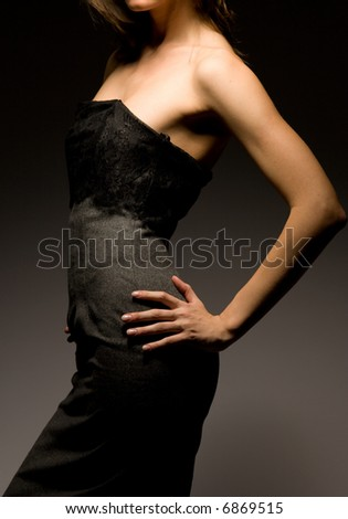 "Professional model. Shooting in studio. ""Fashion Lighting"" - stock photo"