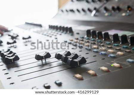 Professional music mixer - stock photo