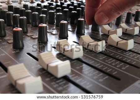 Professional Music Mixing Studio - stock photo