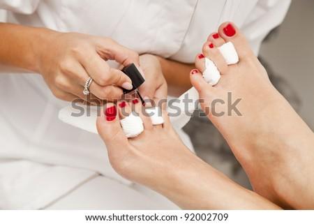 Professional pedicure - stock photo