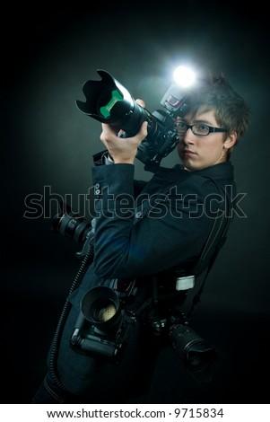 professional photographer - stock photo