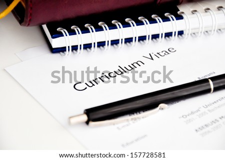 professional resume for finding a job - stock photo
