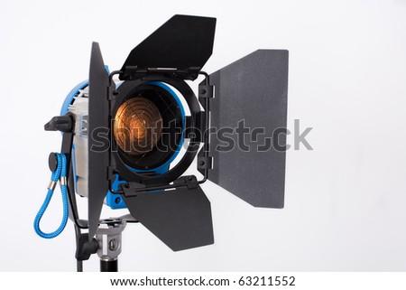 professional searchlight on shooting platform - stock photo