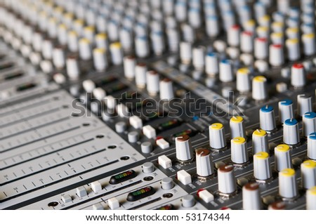 Professional sound mixer