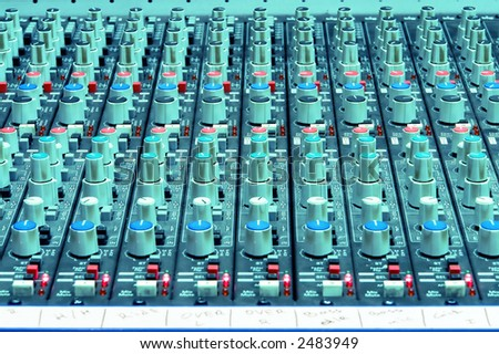 Professional Studio/Concert Sound Mixing Console - stock photo