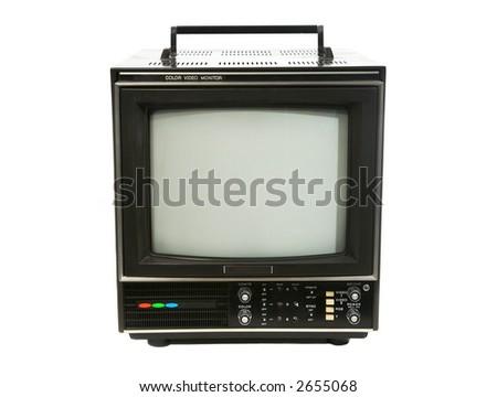 Professional Television Studio Monitor - stock photo