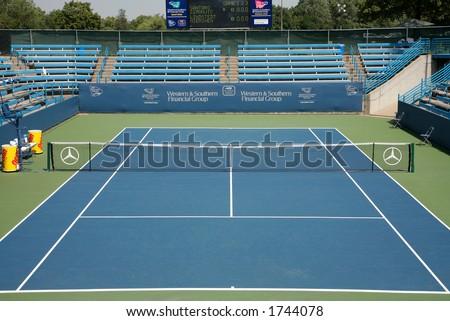 Professional Tennis Stadium - stock photo