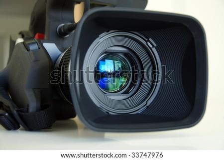 Professional video camera - stock photo