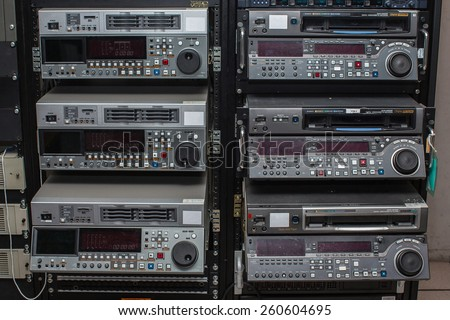 Professional video recorder. - stock photo