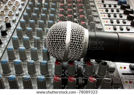 Professional vocal microphone - stock photo