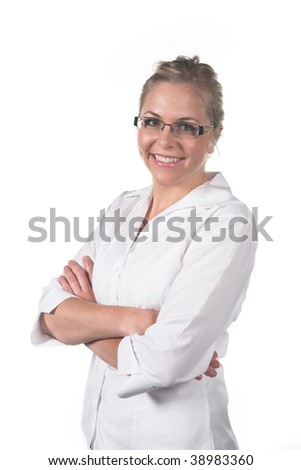 Professional woman with folded arms
