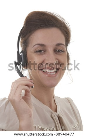 Professional woman with headset