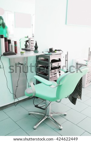 professional workplace in a barbershop