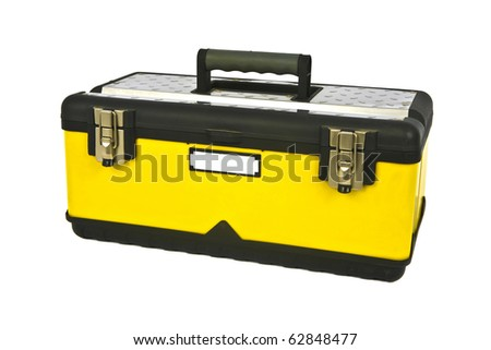 Professional yellow toolbox - stock photo