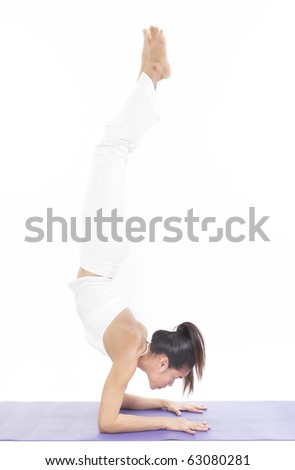 professional yoga trainer in studio
