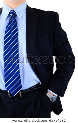 Professionally dressed top manager isolated on white - stock photo