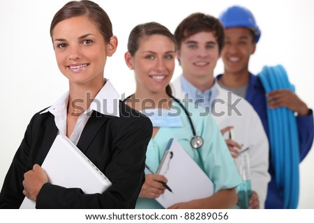 professions and trades - stock photo