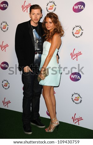 Professor Green and Millie Mackintosh arriving for the 2012 WTA Pre-Wimbledon Party at the Roof Gardens in Kensington, London. 21/06/2012 Picture by: Steve Vas / Featureflash - stock photo
