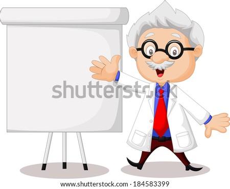 Professor teaching - stock photo