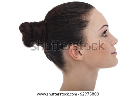 Profile of a young woman/teenage girl - stock photo