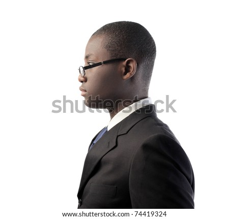 Profile of an african businessman - stock photo