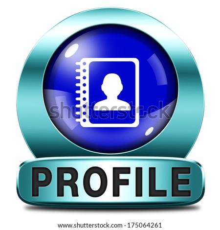 personal icon profile button bio avatar data info illustrations icons shutterstock clip