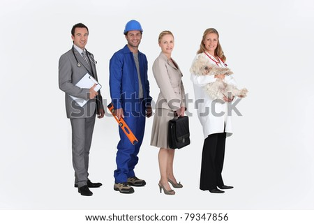 Profile photo of four professionals
