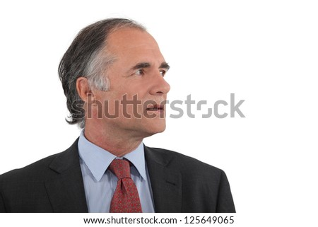 Profile shot of successful businessman - stock photo