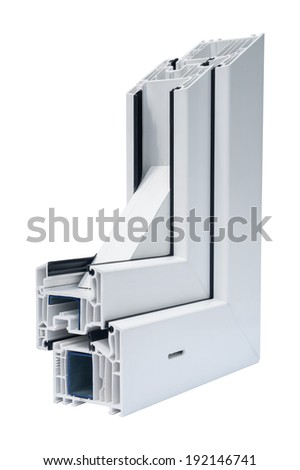 Profile systems for windows and doors manufacturing - Stock Image - stock photo