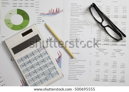 Profit and Loss analysis, business, account concept.