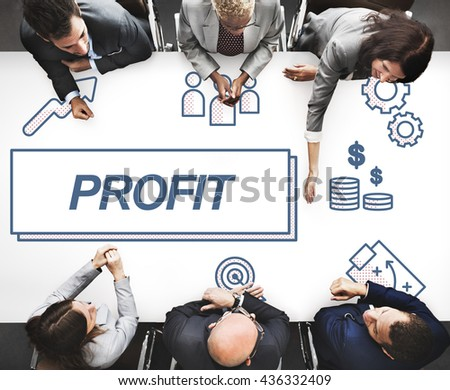 Profit Business Financial Gain Graphic Concept - stock photo