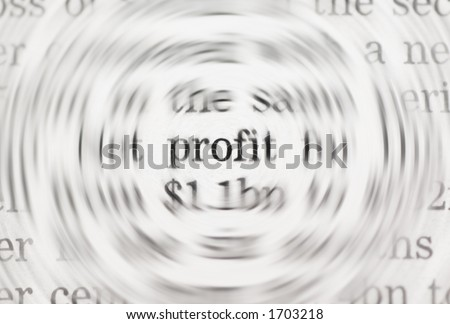 profit concept - stock photo