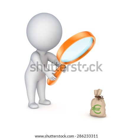 Profit concept, 3d rendered illustration isolated on white.