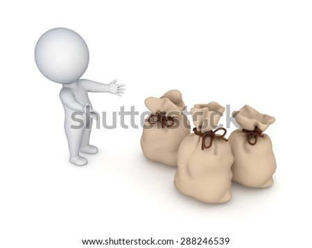 Profit concept, 3d rendered illustration isolated on white. - stock photo