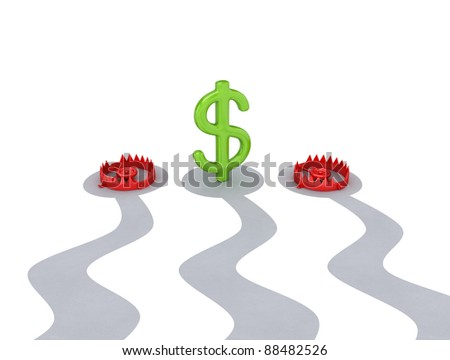 Profit concept.Isolated on white background.3d rendered. - stock photo