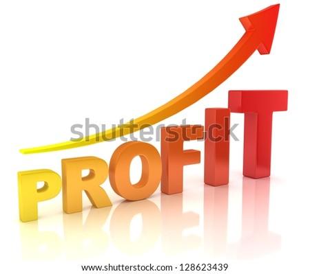 profit graph with arrow - stock photo